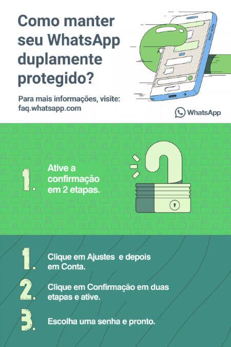 Verificação de duas etapas no aplicativo WhatsApp