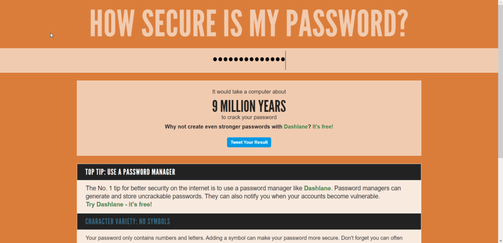 Teste a força da sua senha How Secure Is My Password